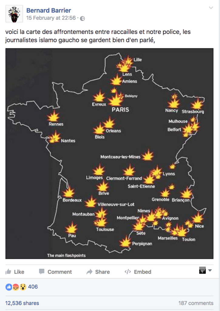 Evreux France Map.Does This Map Show Recent Violence Across France No Global