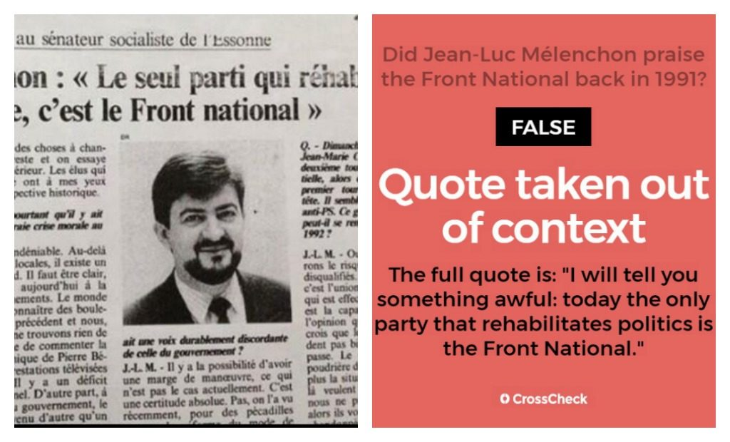 Jean-Luc Mélenchon accused of having praised the Front ...