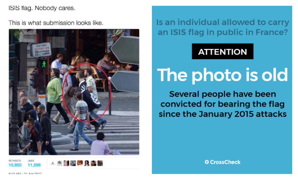 Is an individual allowed to carry an ISIS flag in public in